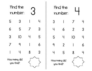1-20 Number Find, 1-10 Number Maze, and BINGO game by