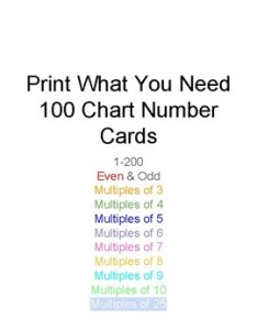also hundreds chart number cards with multiples of and rh teacherspayteachers
