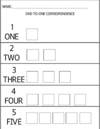 1-5 one to one correspondence worksheet by MrsM | TpT