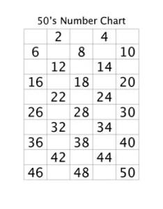number chart practice also by brendat teachers pay rh teacherspayteachers