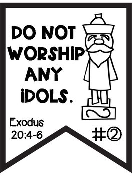10 Commandments Black and White Banners for Easy Printing