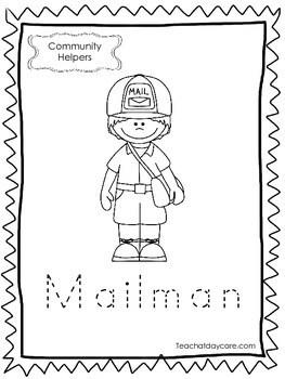 11-Community Helpers Tracing Worksheets. Preschool
