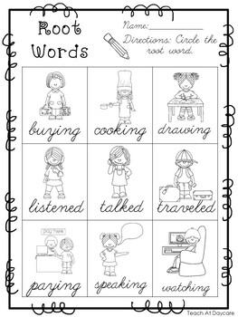 10 Cursive Root Word Worksheets. Kindergarten-2nd Grade
