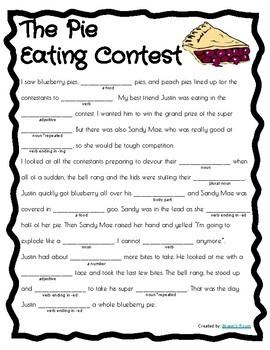 10 School/Kid Themed Mad Libs! Fun parts of speech