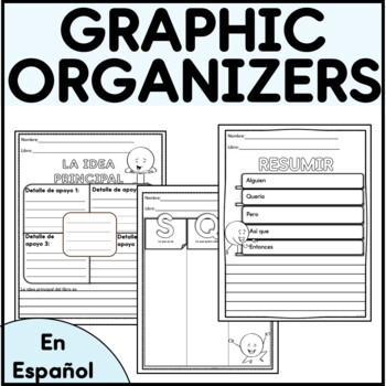 10 Spanish Reading Graphic Organizers/ 10 Organizadores