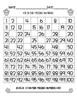 100 Chart (and 200 Chart)-Fill In The Missing Numbers!! by