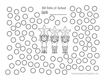 100 DOTS of School Articulation for Speech Therapy by