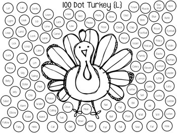 100-Dot Articulation Print & Go Worksheets for the Year