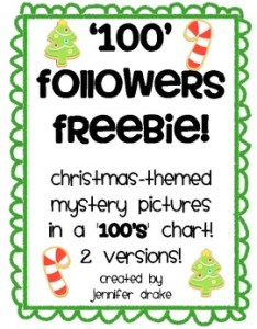 Christmas themed mystery pictures in  chart also followers freebie rh teacherspayteachers