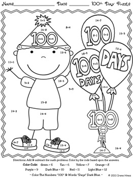 100th Day Of School Unit: 100 Is A Magic Number by Irene