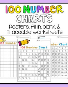 number chart worksheets blank filled missing numbers evens and odds also rh teacherspayteachers