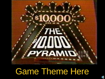 10000 Pyramid PowerPoint Game Show template by Teacher