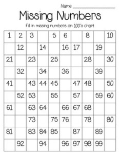 chart missing numbers also number teaching resources teachers pay rh teacherspayteachers