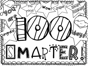 100th Day Coloring Page ~ FREEBIE! by DrRichardson | TpT