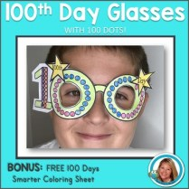 100th Day of School Activity Glasses Craft