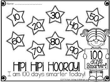 100th Day of School {FREEBIE} by My Heart Belongs in