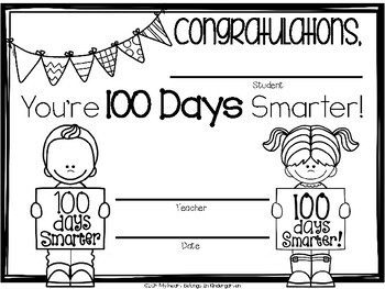 100th Day of School {FREEBIE} by My Heart Belongs in