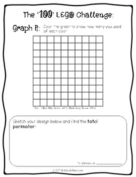100th Day STEM Activities (LEGO and Pattern Blocks) by