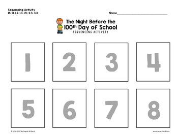 100th Day: The Night Before the 100th Day of School