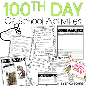 100th Day of School Activities and Printables for K-2 by