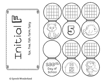 100th Day of School Articulation Necklaces by Speech