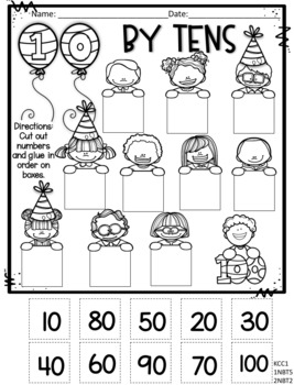 100th Day of School CC Aligned Activities for Primary