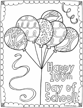 100 Days of School - Coloring Pages and Worksheets   Planerium
