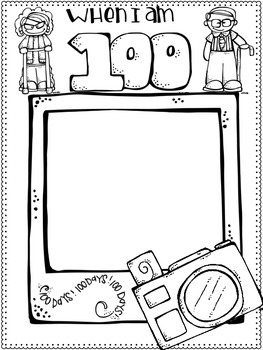 100th Day of School Craftivity & Printables by Jessica