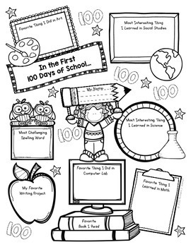 100th Day of School ELA + Math Printables & Activities