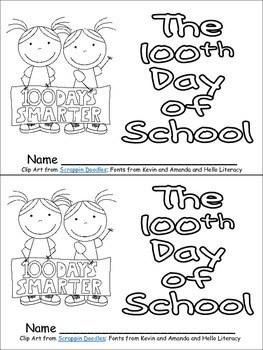100th Day of School Emergent Reader for Kindergarten by