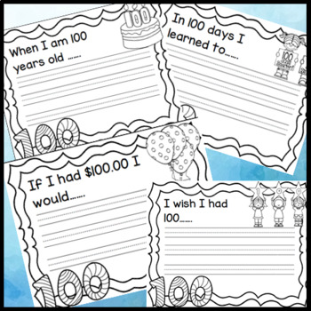 100th Day of School Hats, Coloring Activity, 100 Days of