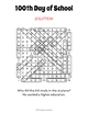 100th Day of School Word Search Puzzle by Puzzles to Print