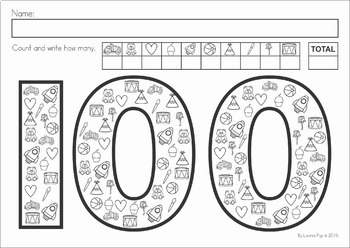 100th Day of School Worksheets and Activities No Prep by