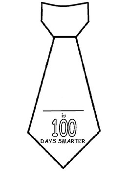 100th day tie template by Made for Ontario Teachers Dollar