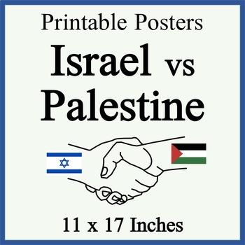 israel vs palestine posters