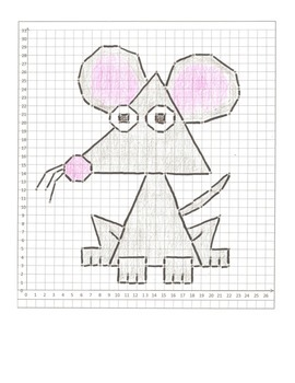Coordinate Plane Graphing Animals Cartoon Packet 2! 12