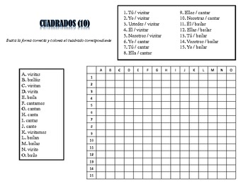 Spanish AR Verb Activities; Do Now, Fast Finisher