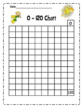120 ~Hundreds Chart up to 120 ~Common Core Math by Super