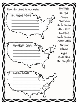 13 Colonies: Life in Colonial Times Assessment by Crown