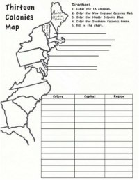 13 Colonies Map Worksheet by Hester History | Teachers Pay ...