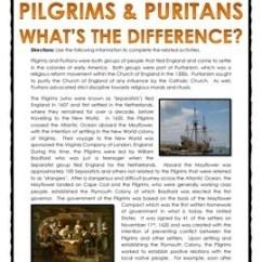 Pilgrims Vs Puritans Venn Diagram 12v Relay 13 Colonies Reading And Comparison Chart Key