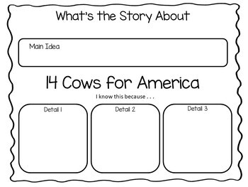 14 Cows for America ~ 40 pgs of Common Core Activities by