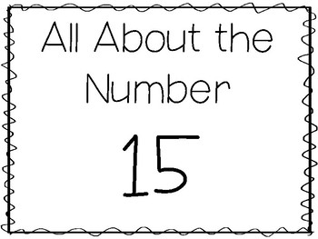 15 All About the Number 15 Tracing Worksheets and