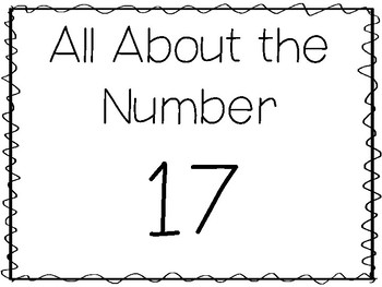 15 All About the Number 17 Tracing Worksheets and