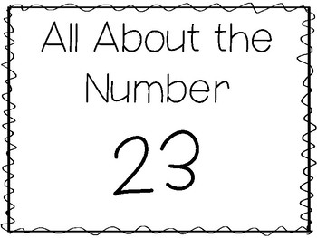 15 All About the Number 23 Tracing Worksheets and
