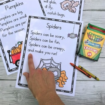 15 Fall Themed Sight Word Poems for Shared Reading (for