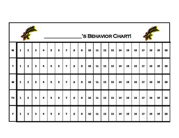 15 Minute Increment Behavior Chart by Real Deal Counseling