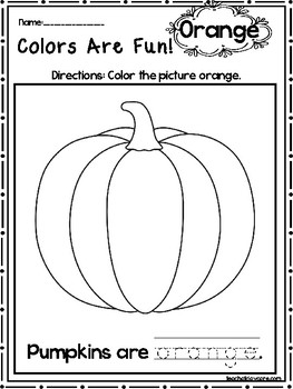 15 Orange Colors Are Fun Printable Worksheets. Preschool
