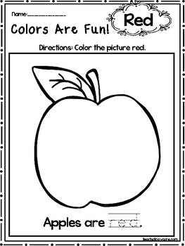 15 Red Colors Are Fun Printable Worksheets. Preschool-KDG