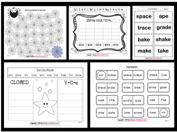 15 V-C-e Syllable Activities & Games by Reading on